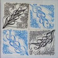 Four Feathers zentangle