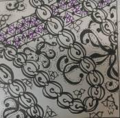 20150414 20 Zentangle 162 pigma ink watercolor on bristol