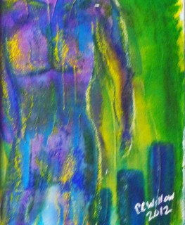 Abstract Nude mixed media