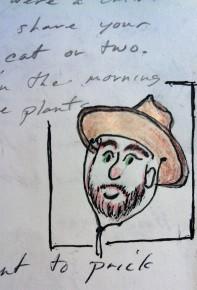 Arrin in BRown Hat ink