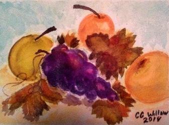 Asian Pears1watercolor