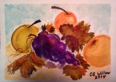 Asian Pears1 watercolor