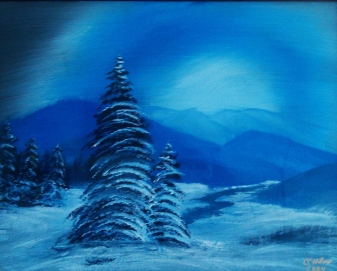 Blue Winter acrylic [in Private Collection]