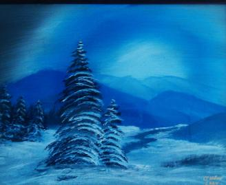 Blue Winter acrylic (in private collection)