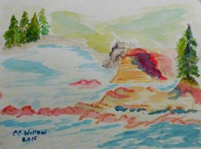 Boiler Bay watercolor