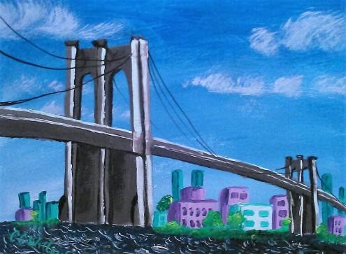 Brooklyn Bridge acrylic