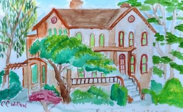 Bush House watercolor