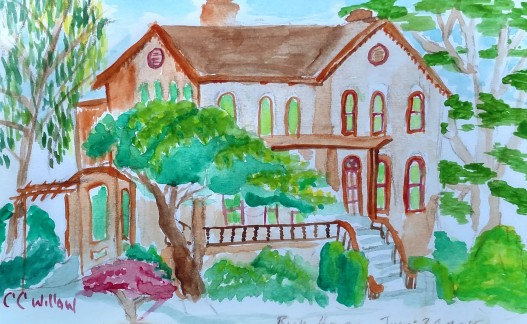 Bush House watercolor