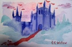 Castle In The Clouds watercolor