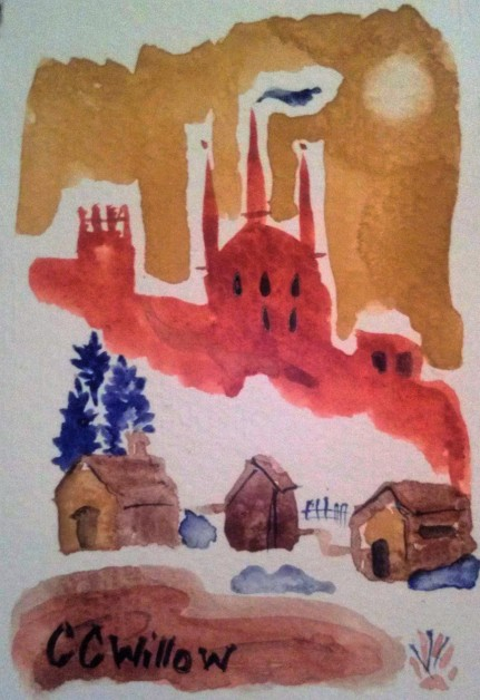 Castle OnThe Hill watercolor