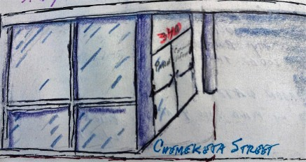 Chemeketa Street pen & colored pencil