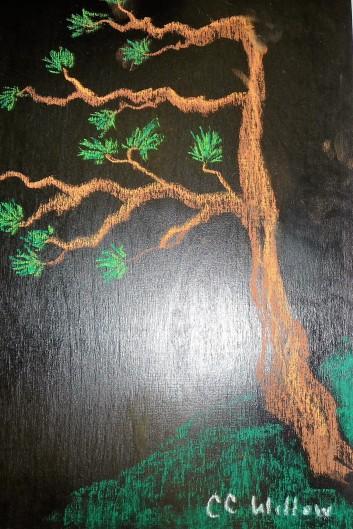 Coastal Tree pastels