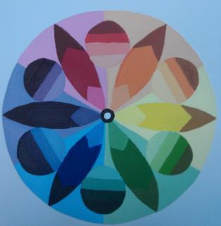 Feather Mandala acrylic