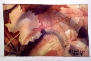 FAllen Leaves 2 watercolor
