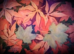 Fallen Leaves 3 watercolor