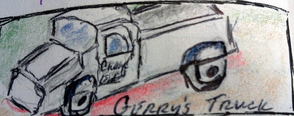 Gerry's Truck ink, graphite & colored pencil