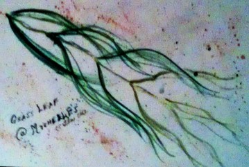 Grass Leaf watercolor
