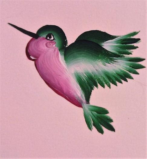 Hummingburd acrylic (in private collection)