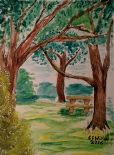 Glen at Capitol Manor 1 watercolor