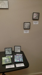 Zentangles in SAW's Miniature Show.