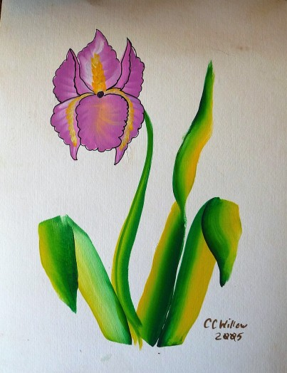 Iris 1 acrylic