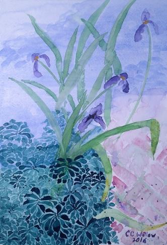 Iris at Gaiety Hollow waterccolor