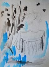Jacob graphite & watercolor