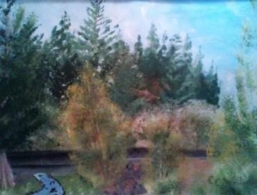 Memorial Day at Blowout Creek 9X12 acrylic en plein aire