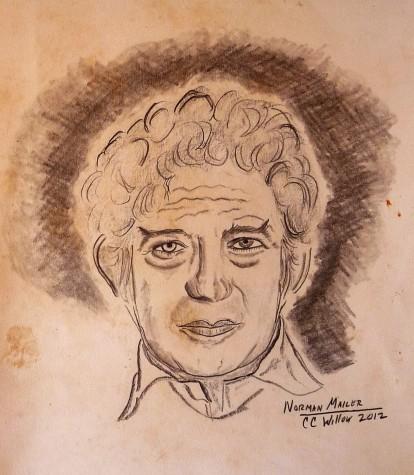 Norman Mailer graphite