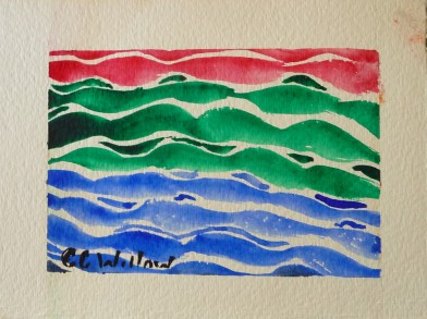 Ocean Abstract watercolor