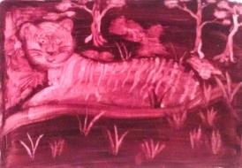 Ochre Tiger acrylic