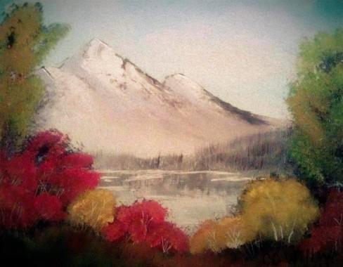 October's Landscape acrylic