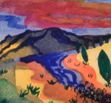 Painted Hills watercolor