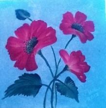Poppies acrylic