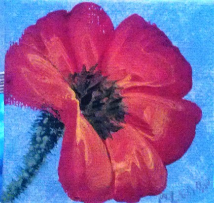 Poppy 2 acrylic