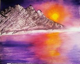 Raw Sunset acrylic