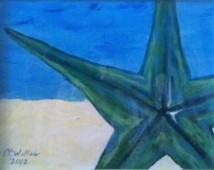 Starfish 4 12X9 acrylic