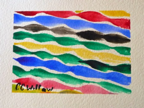 Summer Ribbons watercolor