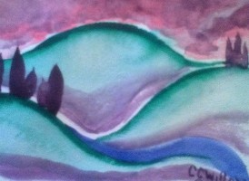 Sunset Hills 1 watercolor