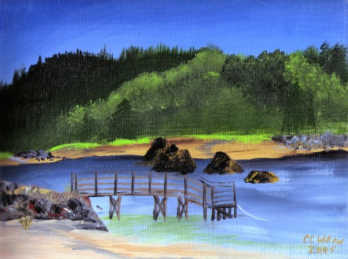 Taft Bay Lincoln City acrylic