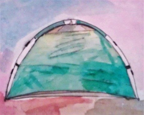 Tent watercolor