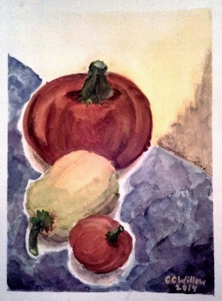Three Gourds 15x11 watercolor
