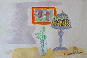 Tiffany Lamp watercolor