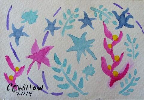 Undersea Garden watercolor
