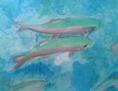 Unfinished Pisces 11X1 watercolor en plein aire