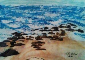 View From The Seagull watercolor