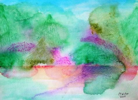 Baskett Slough watercolor