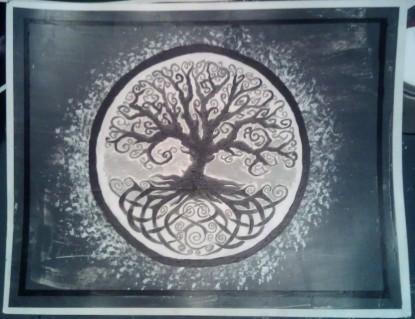 Welsh Tree (black) acrylic