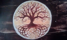 Welsh Tree (brown) acrylic