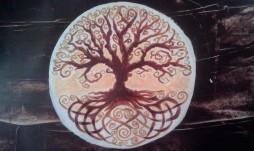 Welsh Tree monotone acrylic